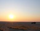 Unterwegs in der Ntwetwe Pan - Makgadikgadi-Salzpfannen
