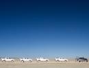 Im Convoy durch die Salzpfanne - Etosha NP
