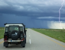 Gewitter bei Gweta - Unterwegs in die Central Kalahari